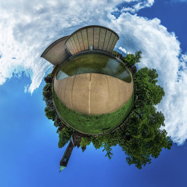 Photograph - Kleinhans Music Hall At  Symphony Circle - Tiny Planet by Chris Bordeleau
