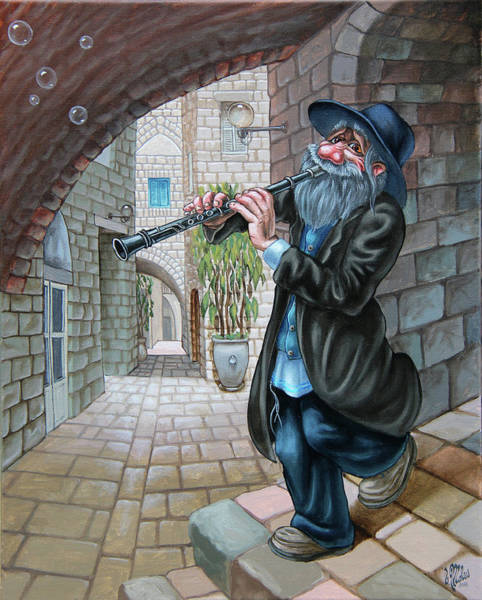 Painting - Klezmer by Victor Molev