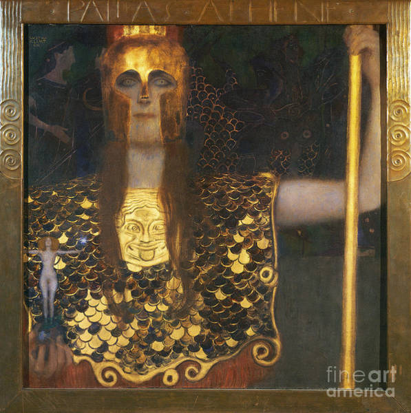 Turn Of The Century Painting - Klimt - Pallas Athena 1898 by Granger
