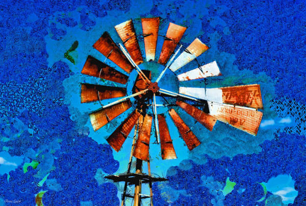 Photograph - Klimt Old Rusty Windmill by Anna Louise