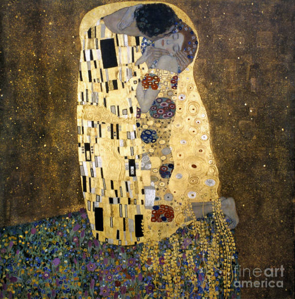 Turn Of The Century Wall Art - Photograph - Klimt: The Kiss, 1907-08 by Granger