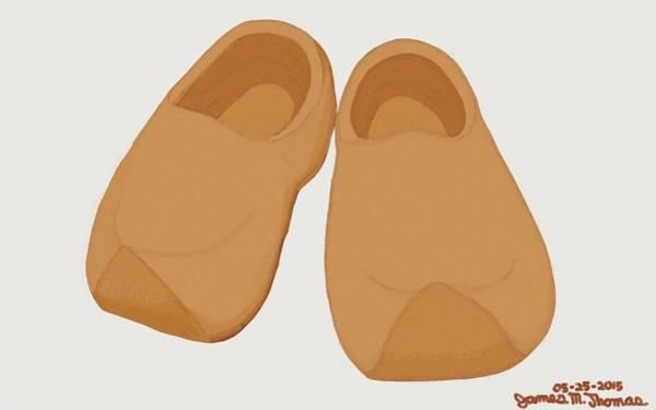 Wooden Shoe Digital Art - Klompen by James M Thomas