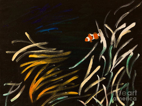 Clownfish Painting - Klovn/clown by Suzanne Thobro