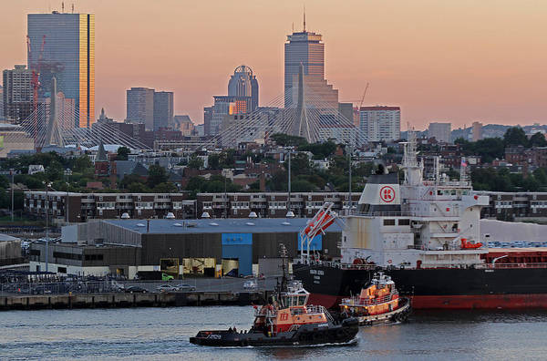 Photograph - Kmarin Genoa And Boston Harbor Tug Boats by Juergen Roth