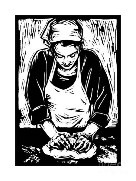 Painting - Kneading Dough - Jlknd by Julie Lonneman