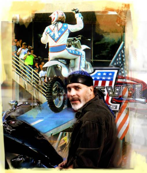 Photograph - Knievel American Tradition   Robbie Knievel by Iconic Images Art Gallery David Pucciarelli