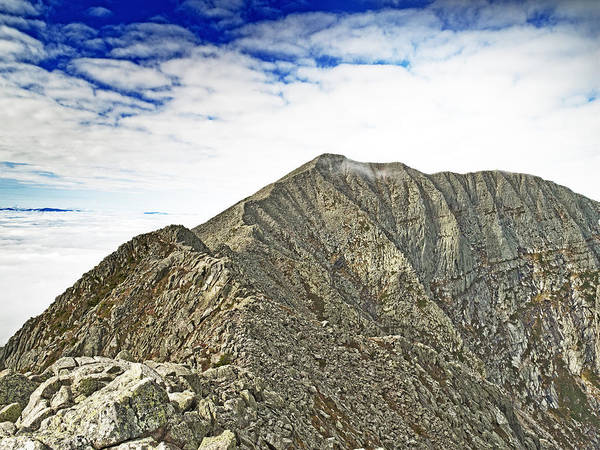 Northern Maine Wall Art - Photograph - Knife Edge On Mount Katahdin Baxter State Park Maine by Brendan Reals
