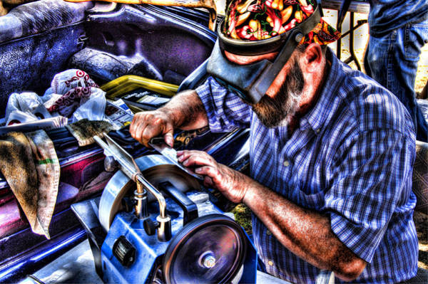 Wall Art - Photograph - Knife Sharpener by Andrew Armstrong  -  Mad Lab Images