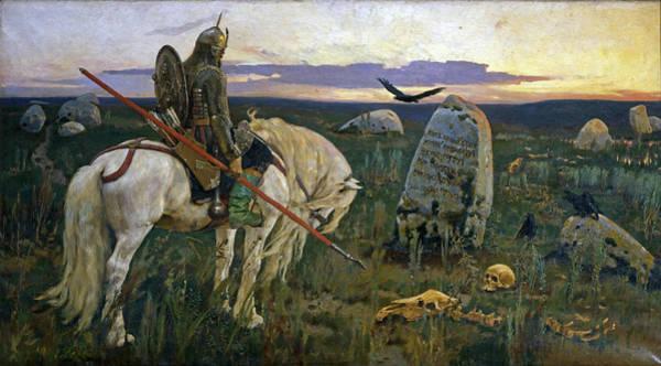 Wall Art - Painting - Knight At The Crossroads by Viktor Vasnetsov