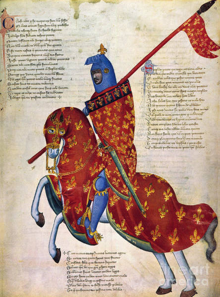 Painting - Knight Of Prato, 14th C by Granger