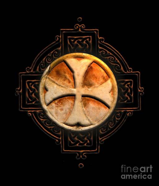 Mythology Digital Art - Knights Templar Symbol Re-imagined By Pierre Blanchard by Pierre Blanchard