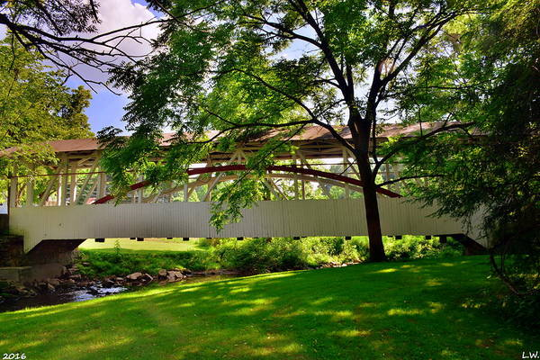 Photograph - Knisley Covered Bridge #5 by Lisa Wooten