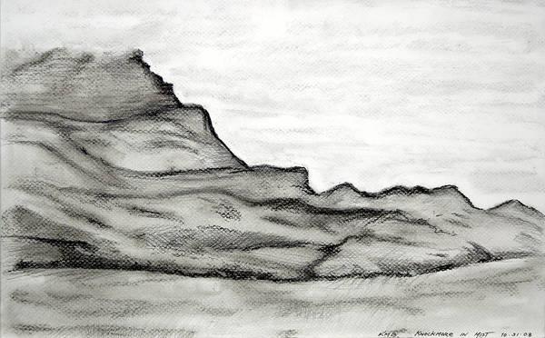 Knockmore In Mist Art Print