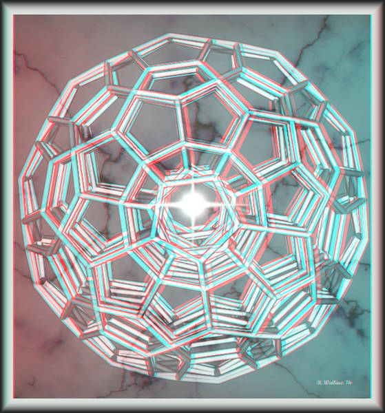 Stereoscopy Digital Art - Knotplot 3 - Use Red-cyan 3d Glasses by Brian Wallace