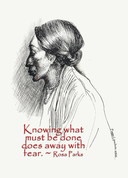 Wall Art - Drawing - Knowing What Must Be Done by Peggy Lipschutz