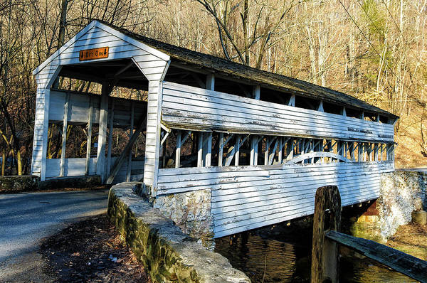 Photograph - Knox Covered Bridge by Louis Dallara