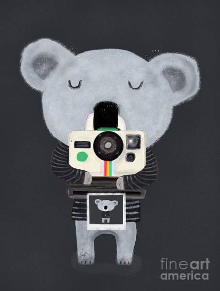 Camera Painting - Koala Cam by Bri Buckley