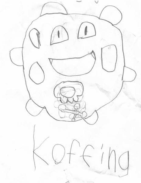Pokemon Drawing - Koffing by Hunter Schneider