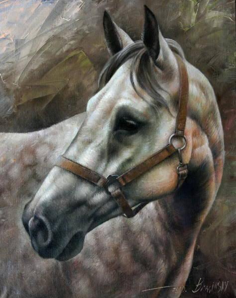 Horse Painting - Kogarashi by Arthur Braginsky