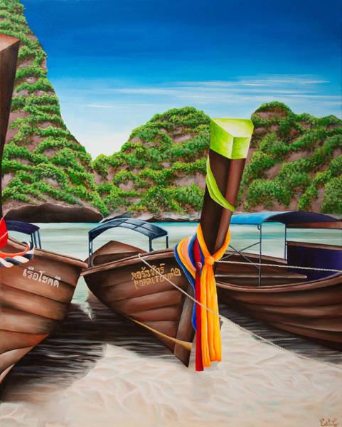 Koh Phi Phi Wall Art - Painting - Koh Phi Phi by Ellie St George