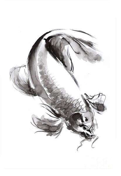 Wall Art - Painting - Koi Fish by Mariusz Szmerdt