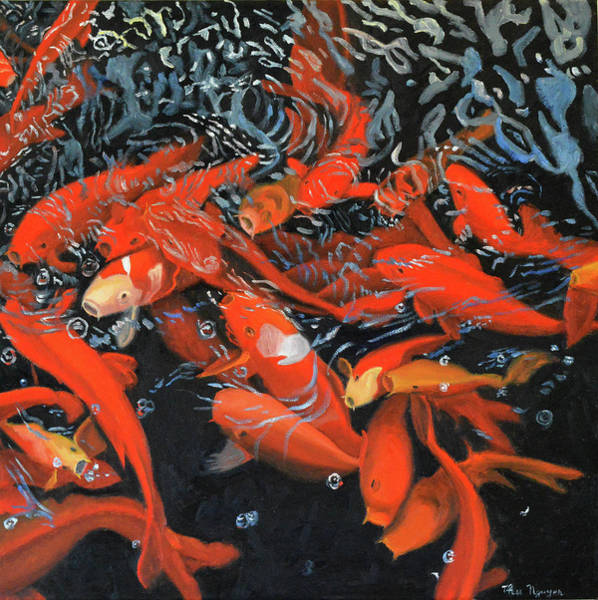 Painting - koi Happiness by Thu Nguyen