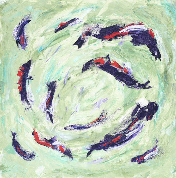 Painting - Koi Joy by Kathryn Riley Parker