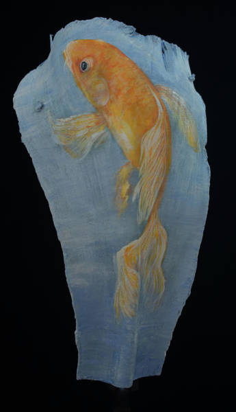 Painting - Koi by Nancy Lauby