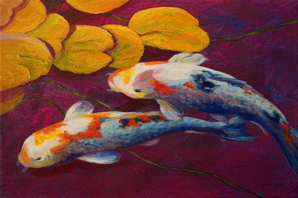 Lilies Painting - Koi Pond II by Marion Rose