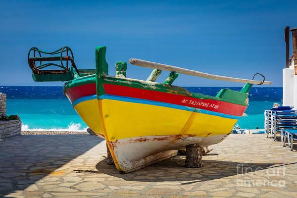 Photograph - Kokkari Boat by Inge Johnsson