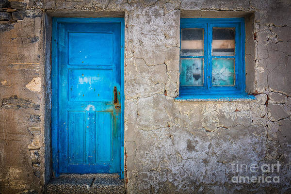Greece Photograph - Kokkari Door by Inge Johnsson