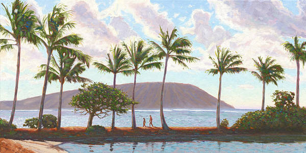 Oahu Painting - Koko Head From The Kahala by Steve Simon