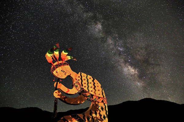 Kokopelli Photograph - Kokopelli And The Milky Way by Donna Kennedy