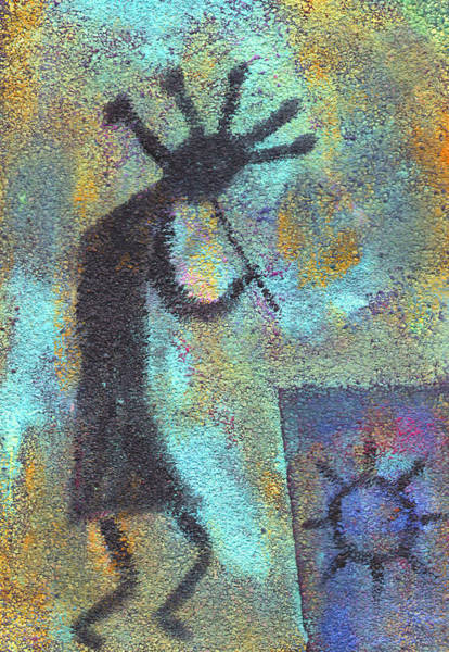Native Painting - Kokopeli by Wayne Potrafka