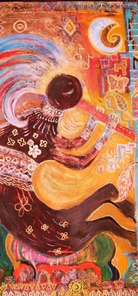 Kokopelli Jazz Art Print by Anne-Elizabeth Whiteway
