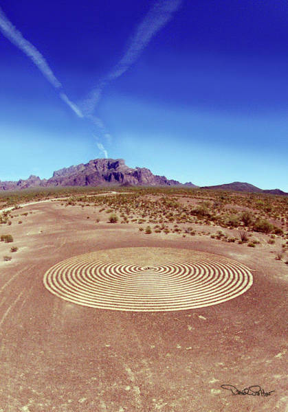Kokopelli Photograph - Kokopelli Spiral Labyrinth by David Salter