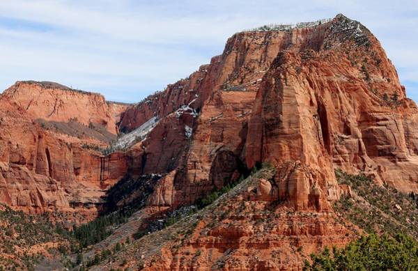 Photograph - Kolob Canyon Dusted With Snow - 6 by Christy Pooschke