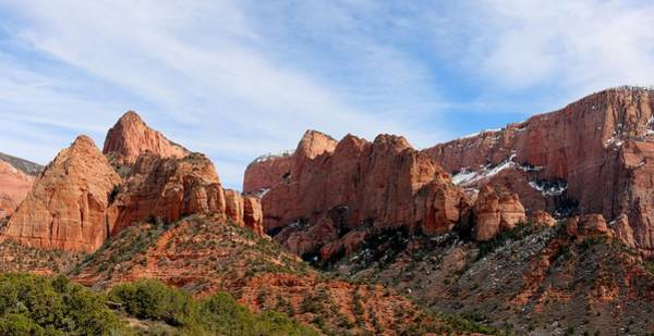 Photograph - Kolob Canyon Dusted With Snow - 7 by Christy Pooschke