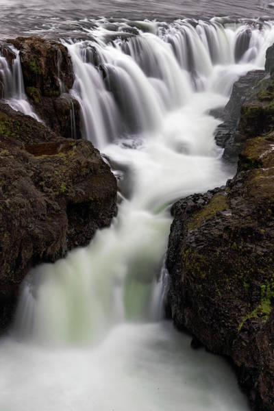 Photograph - Kolugljufur Waterfalls by Tom Singleton