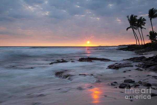 Photograph - Kona Beach Sunset by Charmian Vistaunet