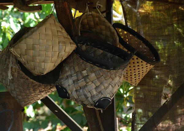 Photograph - Kona Coffee Living History Farm Baskets by Bruce Gourley