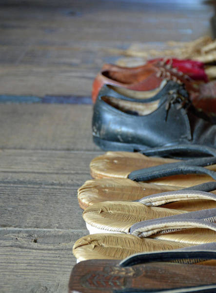 Photograph - Kona Coffee Living History Farm Shoes by Bruce Gourley
