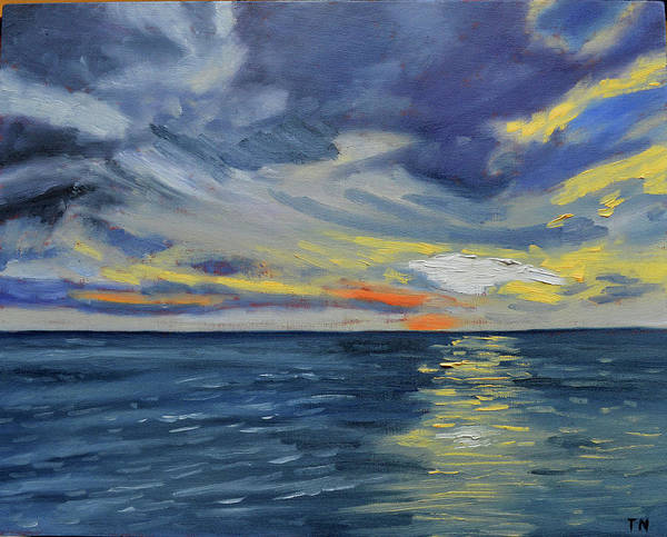 Painting - Kona Sunset by Thu Nguyen