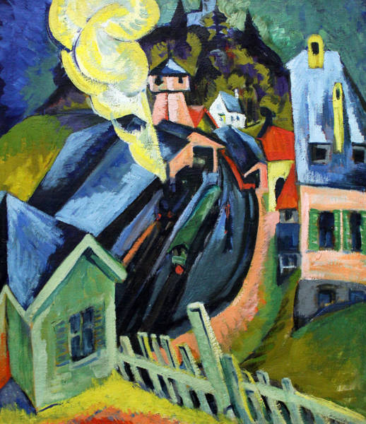 Painting - Konigstein Station by Ernst Ludwig Kirchner