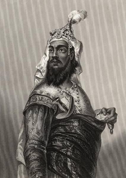 Singh Drawing - Kooer Singh Rebel Chieftan From The by Vintage Design Pics