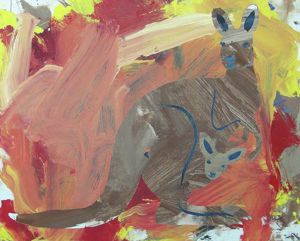 Painting - Kooky Kangaroo by Candace Shrope