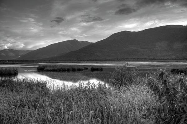 Photograph - Kootenay Marshes In Black And White by Lawrence Christopher