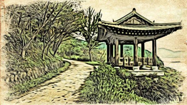 Digital Art - Korean Architecture by Cameron Wood