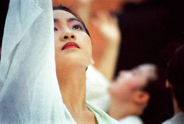 Korean Dancers Art Print by T Monticello