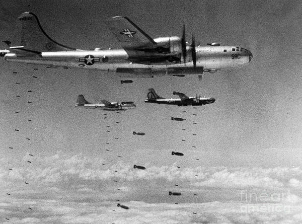 Photograph - Korean War: B-29 Bombers by Granger